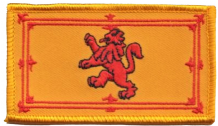 Scotland Lion Rampant Large Rectangular Embroidered Patch (a209a)
